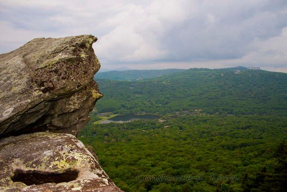 Face in Rock looking over Blue Ridge Mountains